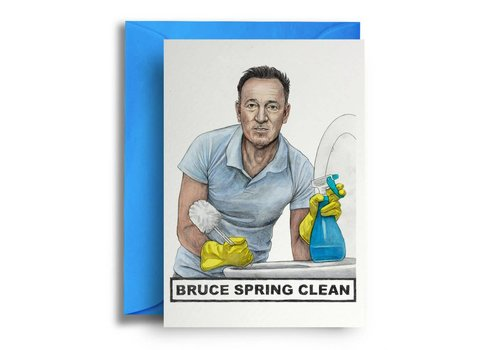 Quite Good Cards Bruce Spring Clean