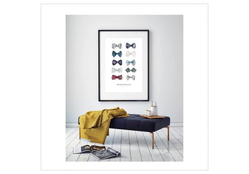 Leo La Douce Artprint A4 - The Gentlemen's bow Ties No.1