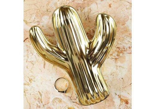 Sass & Belle Gold cactus shaped trinket dish