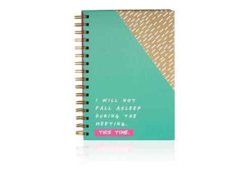 Cortina Notes to self - I will not fall asleep notebook