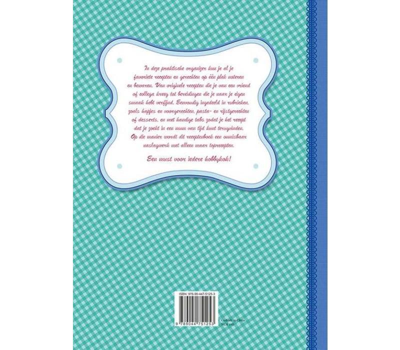 Mijn receptenboek blauw