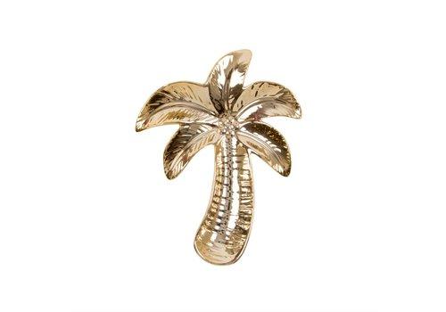 Sass & Belle Gold palm tree shaped trinket dish