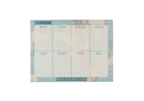 Sass & Belle Vintage map weekly planner pad