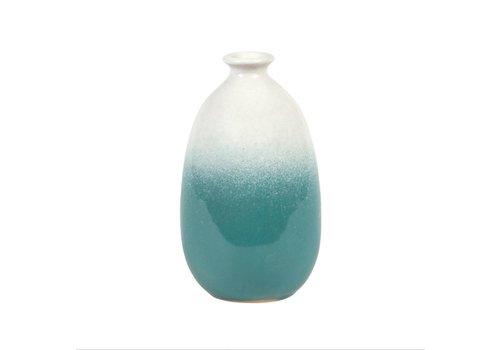 Sass & Belle Dip glazed Ombre Tall vase turquoise
