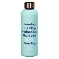 Water Bottle - Monday blink fles