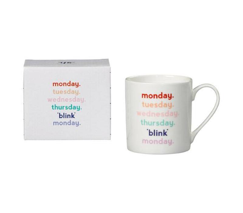 Mug - Monday blink mok