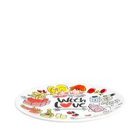 With love bord 18cm champagne