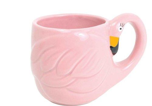 BLOND AMSTERDAM Paradise flamingo mug pink
