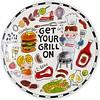 BLOND AMSTERDAM BBQ bord hamburger