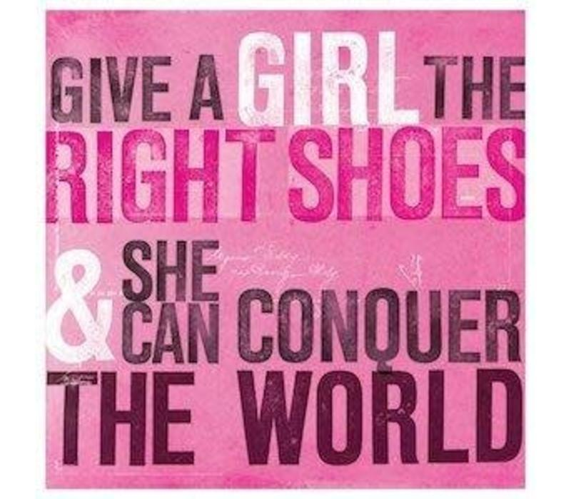 Onderzetter - Give a girl the right shoes