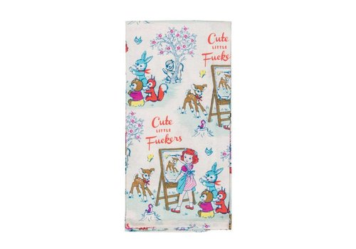 Cortina Theedoek    Cute Little Fuckers   Dish Towel