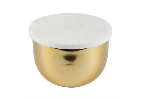 Sass & Belle Marble & Brass Storage Bowl