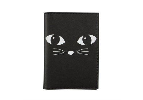 Sass & Belle Black Cat Passport holder