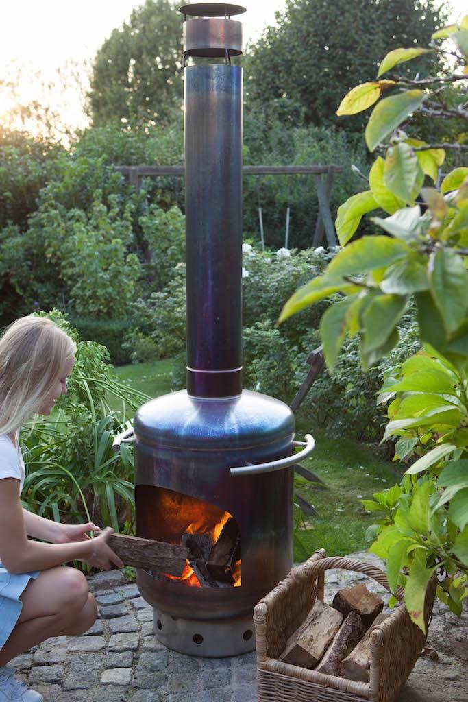 Stofey Stofey XL Edelstahl Outdoor-Kamin