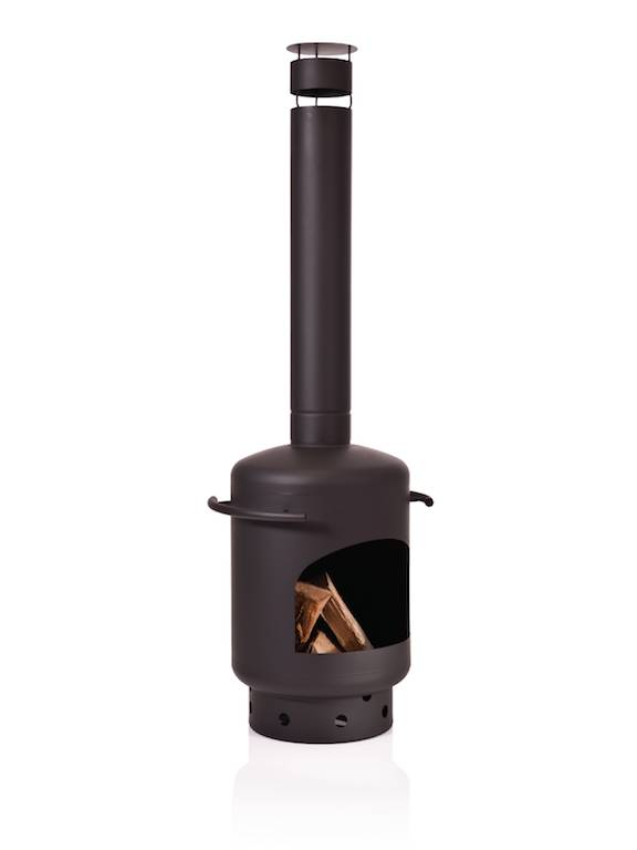 Stofey Stofey XL utomhuskamin i rostfritt stål, svart/antracit