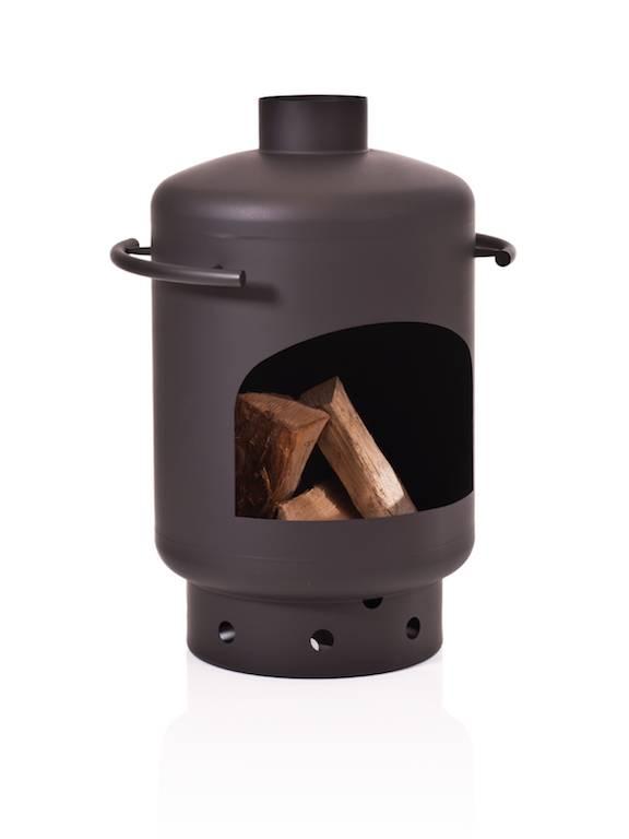 Stofey Stofey XL stainless steel chiminea, black/anthracite