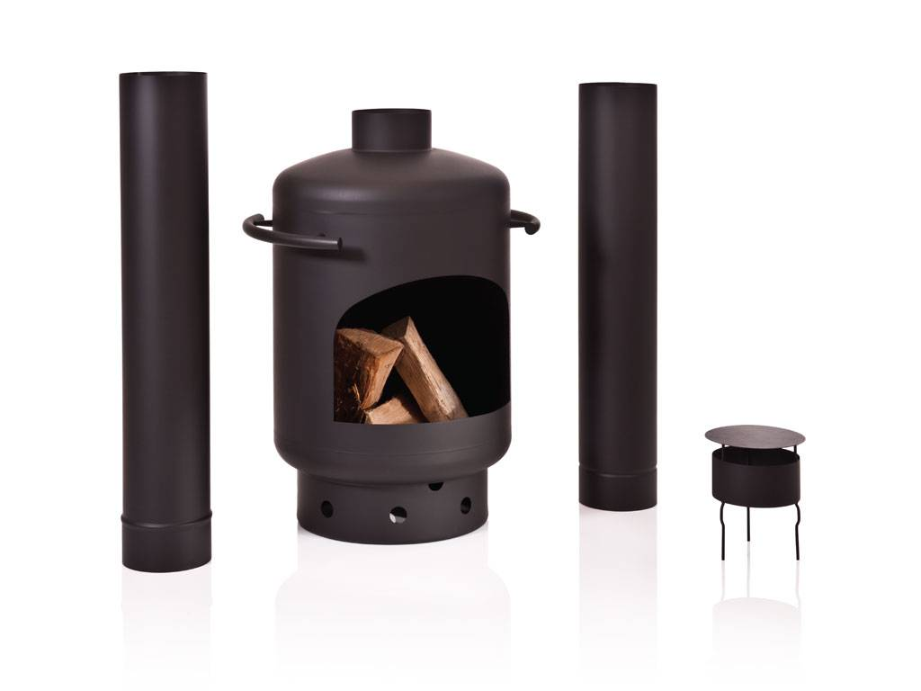 Stofey Stofey XL+ stainless steel chiminea black
