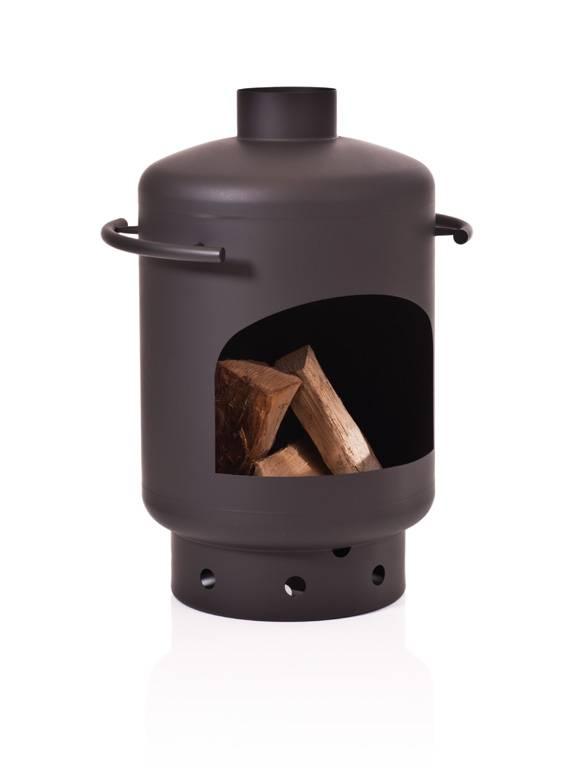 Stofey Stofey XL+ utomhuskamin i rostfritt stål svart