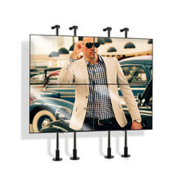 Etalage beugel voor video-wall, 2x2 (42-55 inch)