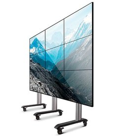 Verrijdbare video-wall, 3x3 (55-60 inch)