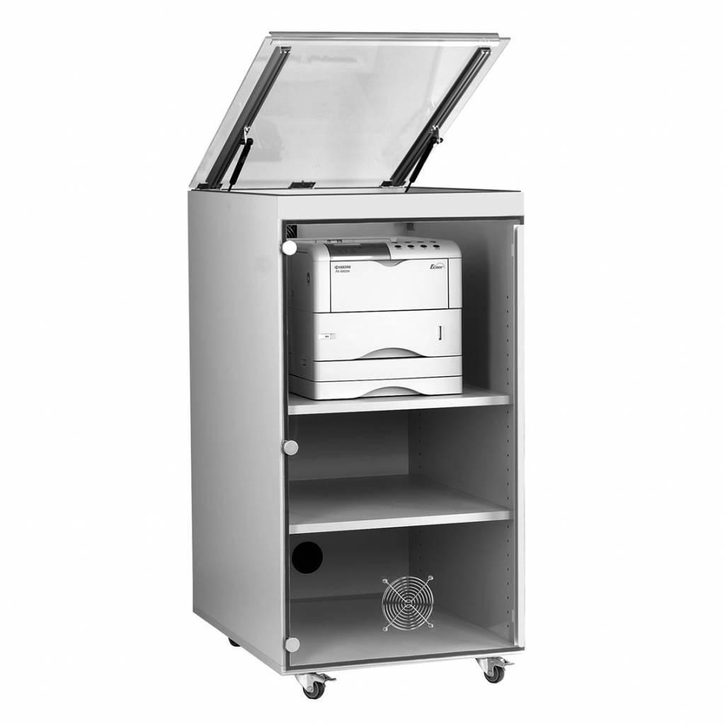 Printerkast voor laserprinter met meerdere papierladen