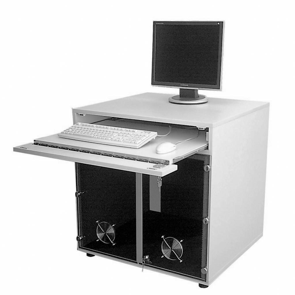 Geluiddempende computerkast voor 2 computers