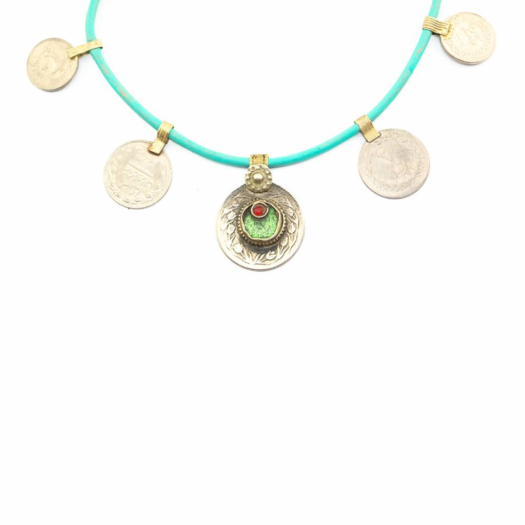 DWAM Gypsy necklace Green mix