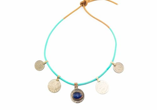 DWAM Gypsy necklace Blue mix