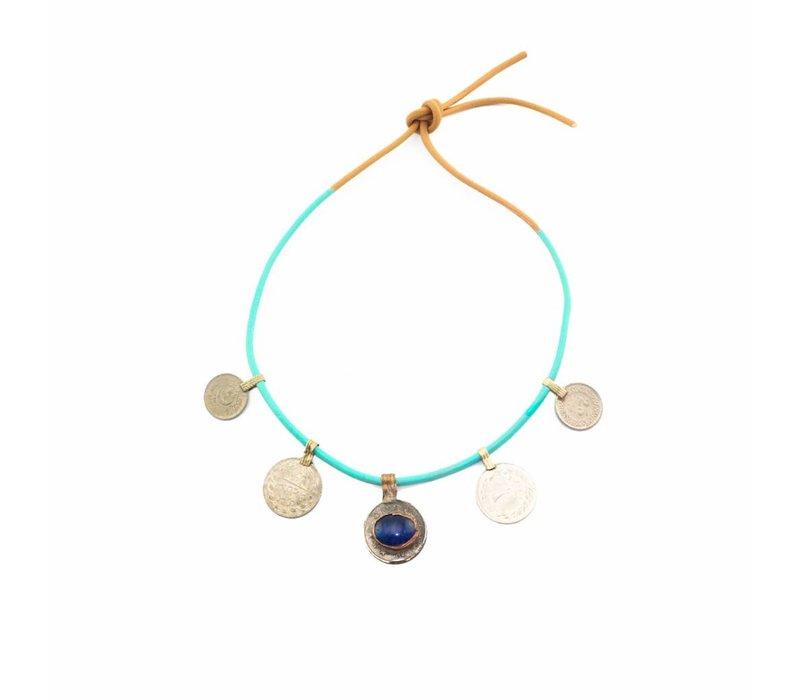 DWAM Gypsy necklace Blue mix