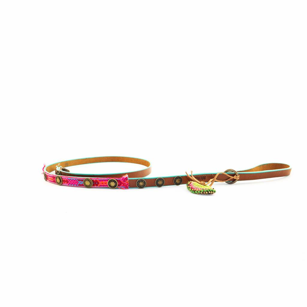 DWAM Leash Boho Rosa S