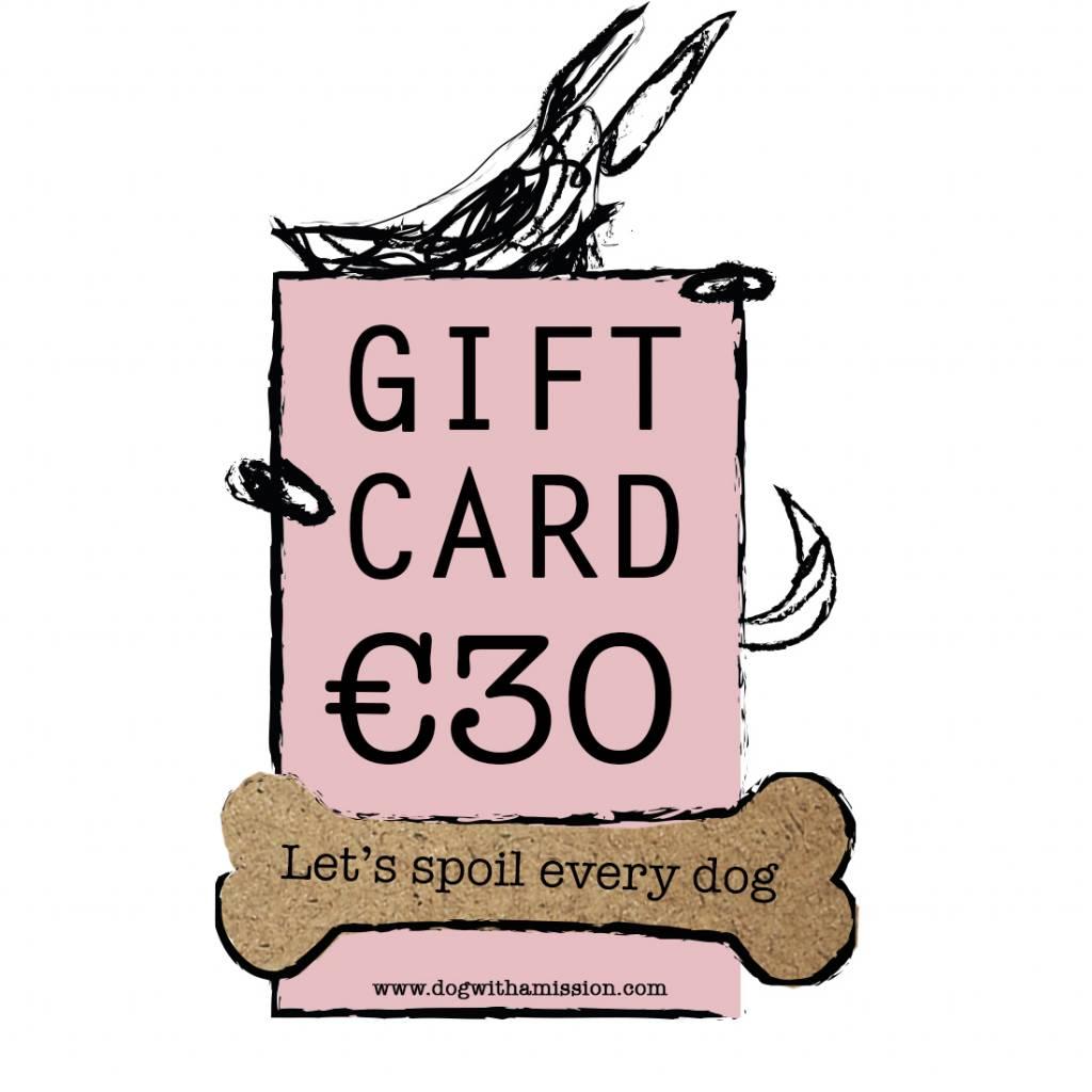 Geschenkkarte €30