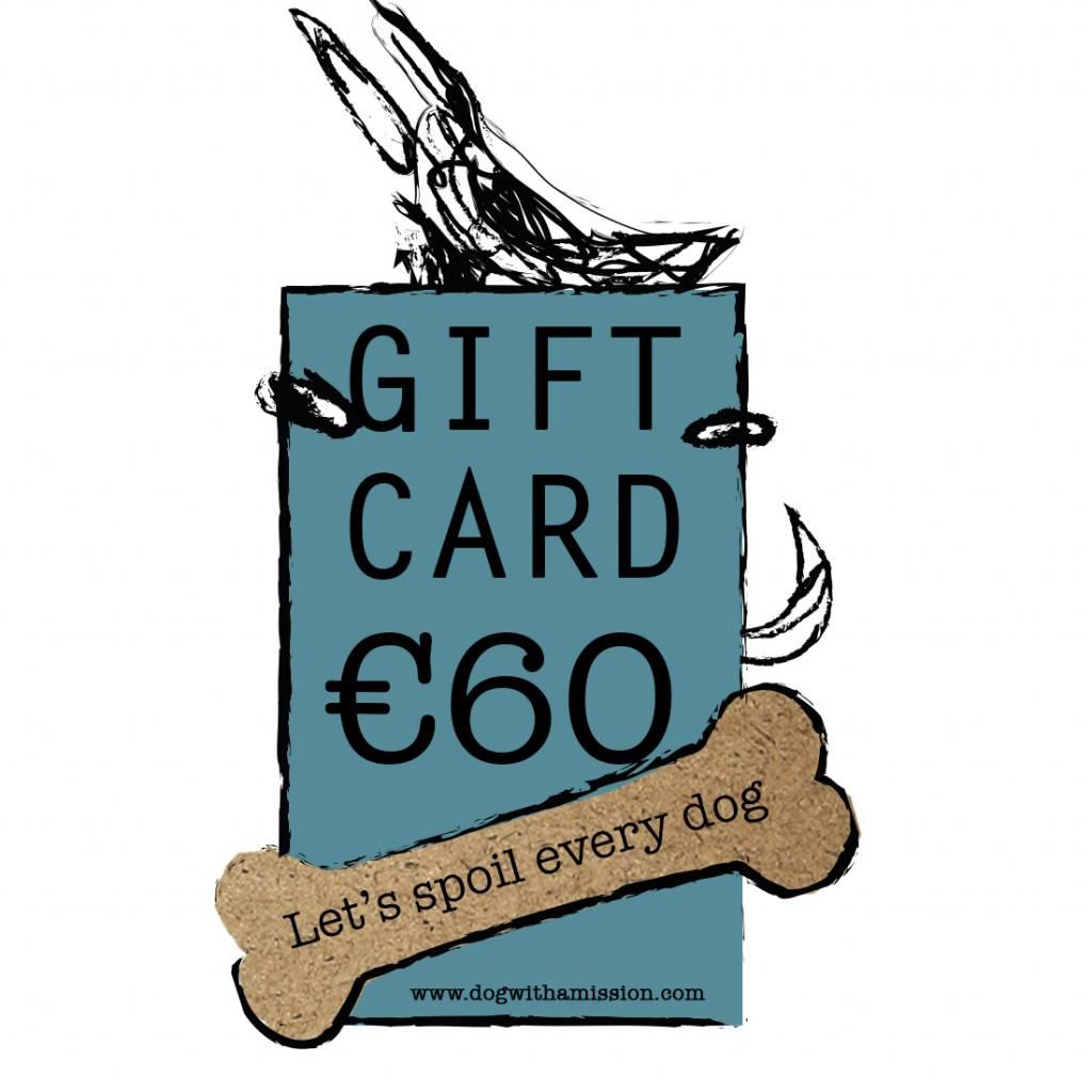 Geschenkkarte €60