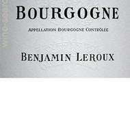 Bourgogne PInot Noir Benjamin Leroux 2012