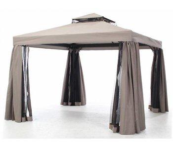 Dakdoek Milaan paviljoen/partytent taupe 300x400cm