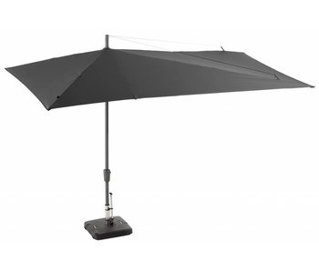 Asymmetrische parasol grijs 220x360cm