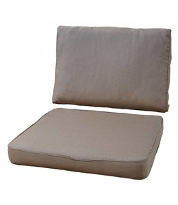 Loungekussen Pure Luxe 73x73 + 73x40cm (Taupe) extra dik