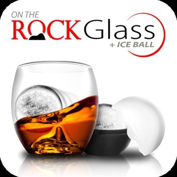 Final Touch On The Rocks Whiskey glas inclusief ijsbalvorm.
