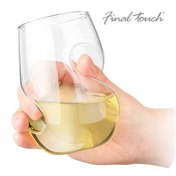 Final Touch Conundrum witte wijnglazen- Set van 4.