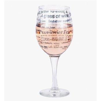 Boxer Multicultureel wijnglas in 25 talen