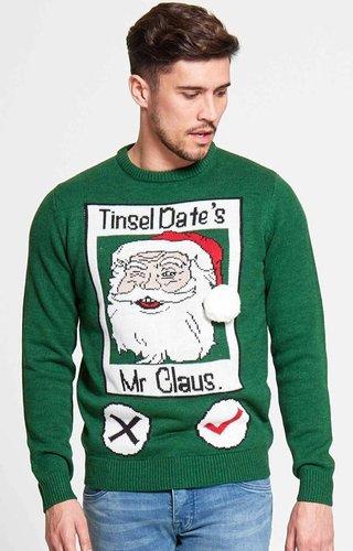 Kersttrui Tinsel Date (Maat XXL) - Heren