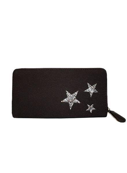 BLACK GLITTER STARS
