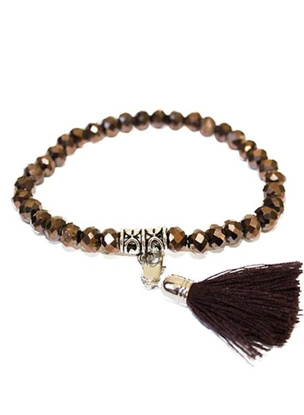 BRACELET BROWN WITH TASSEL