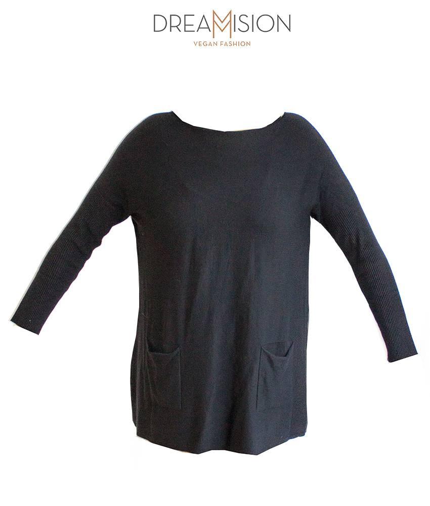 OVERSIZED SWEATER/DRESS BLACK