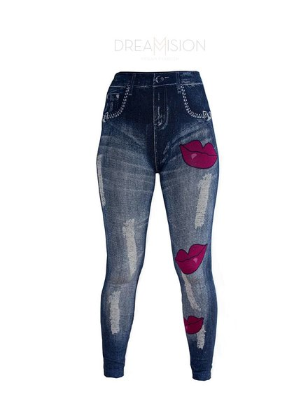KISS THIS JEANS LEGGING