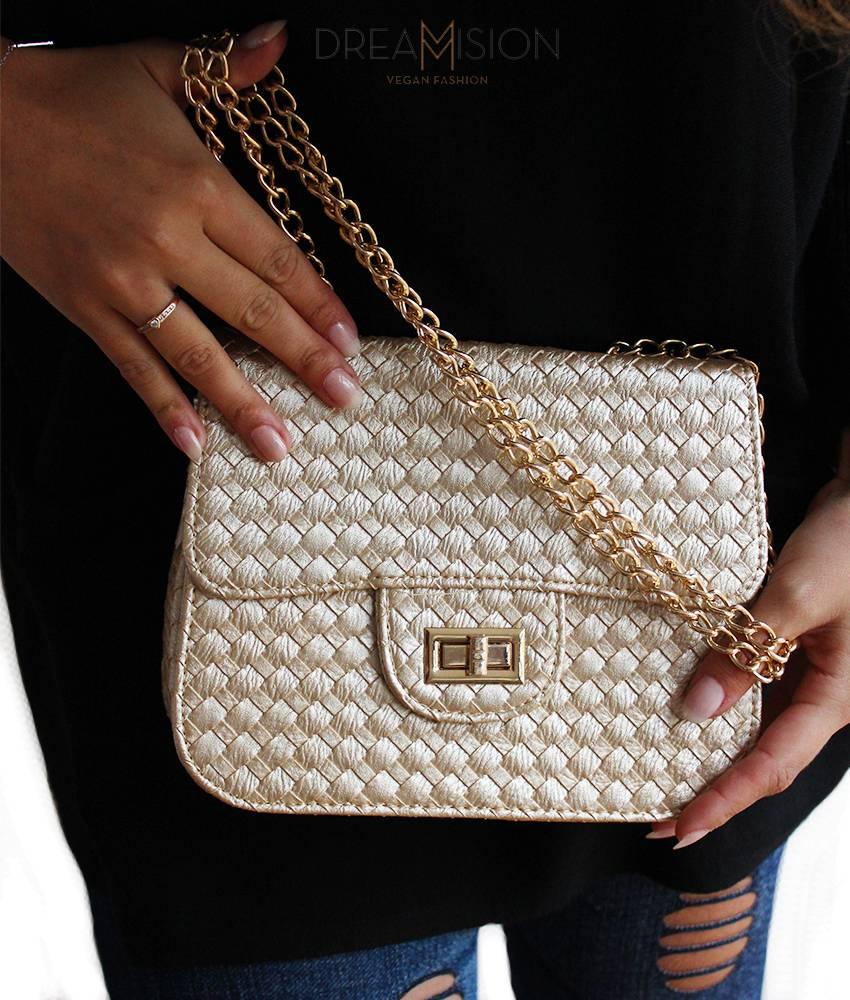 GOLD PINCHER BAG