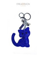 BLUE GLITTER KITTY
