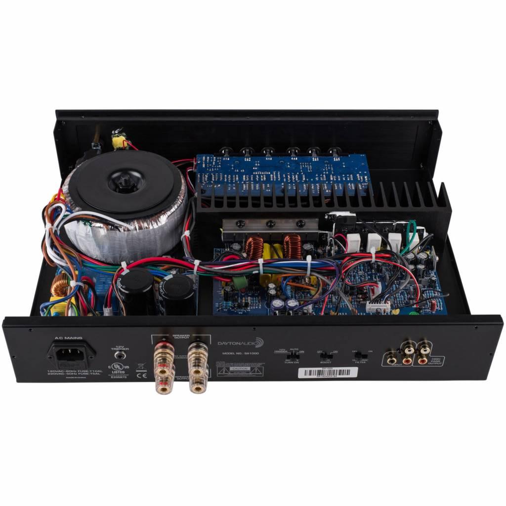 Dayton Audio Sa1000 Subwoofer Amplifier Rack Mountable Soundimports System