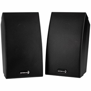 "Dayton Audio SAT-BK 3-3/4"" 2-Way Satellite Speaker Pair"