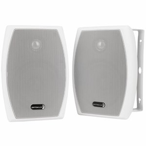 "Dayton Audio IO525W 5-1/4"" 2-Way Indoor/Outdoor Speaker Pair White"