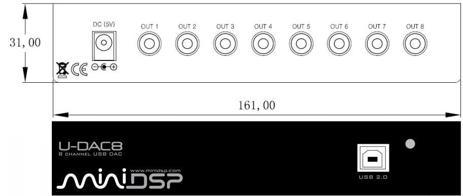 miniDSP U-DAC8 Boxed USB audio Digital to Analog interface